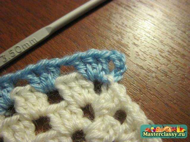 Вязание подушек Наволочка крючком в морском стиле Мастер класс
