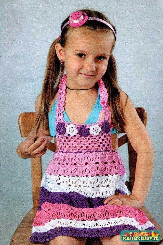 Вязание платья для детей