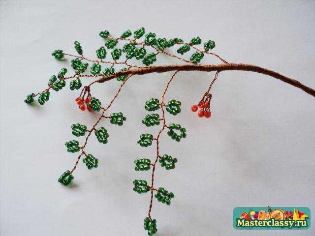 Изделия из бисера дерево своими руками