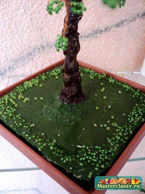 Деревья из бисера Рябина своими руками Пошаговый мастер класс.