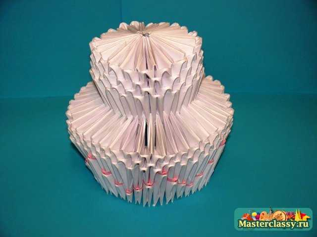 Модульное оригами Торт Мастер-класс с пошаговыми фото Master classy - мастер классы для вас.