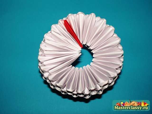Сборка верхнего коржа Торта оригами