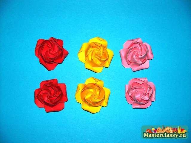 Роза оригами …