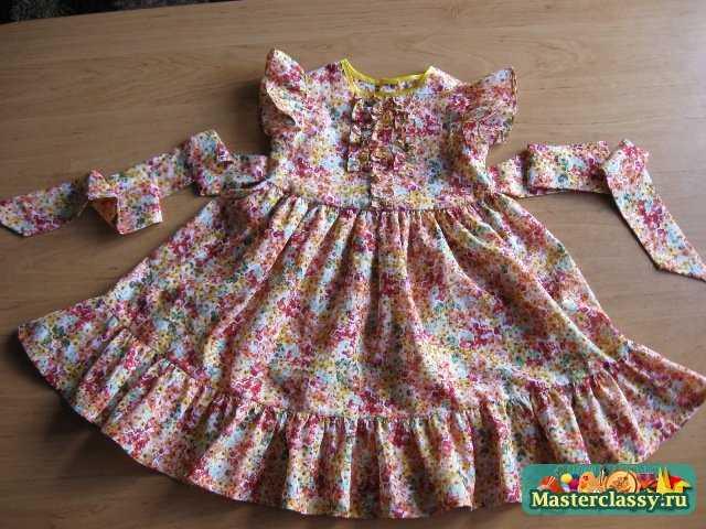 Пошив детского платья на выход. Пошаговый мастер класс. Часть №2