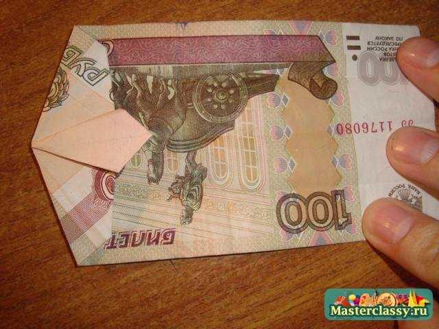 Оригами - деньги. Рубашка с