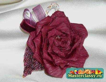 Розы из лент. Мастер класс