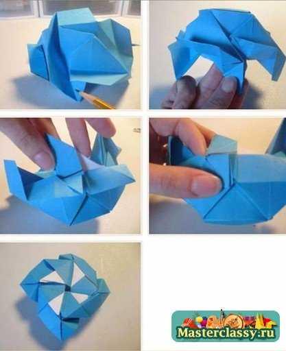 Оригами из бумаги. Роза