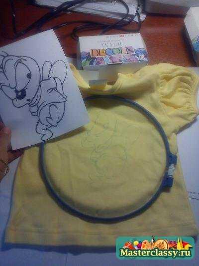 Роспись детских футболок. Мастер класс с пошаговыми фото