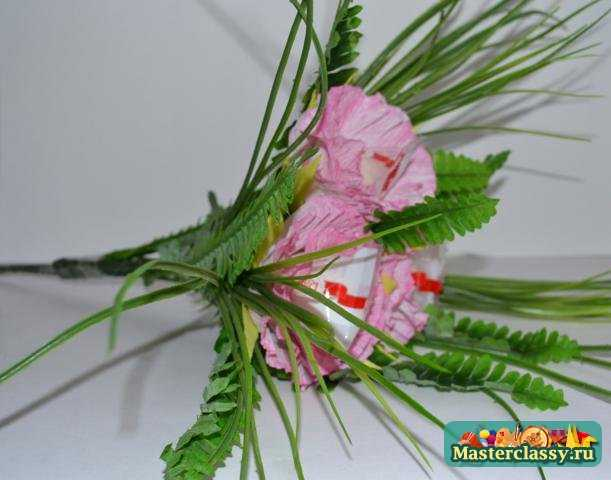Цветы из флизелина мастер класс