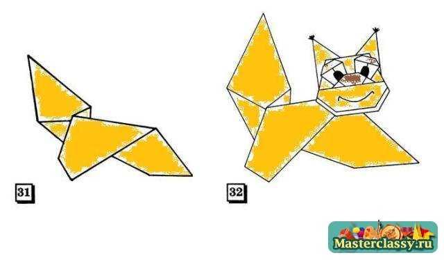 Оригами для детей. Белка