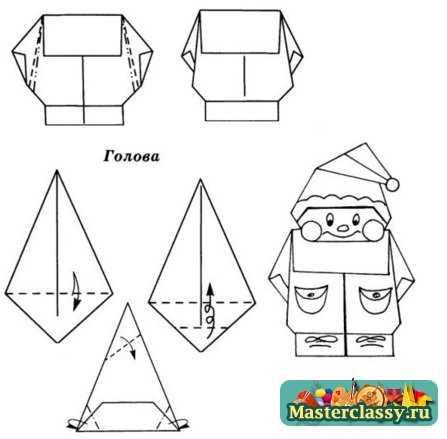 Оригами для детей. Гном.