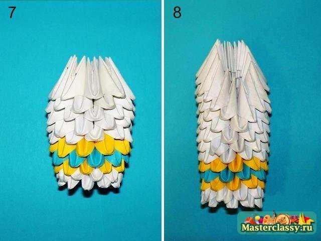 Индийский слон оригами Ноги
