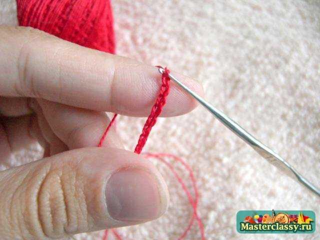 Как сделать петлю из ниток для штор