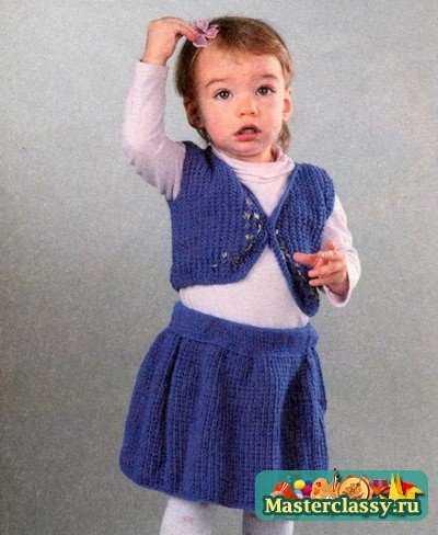 Вязание. Детская жилетка и