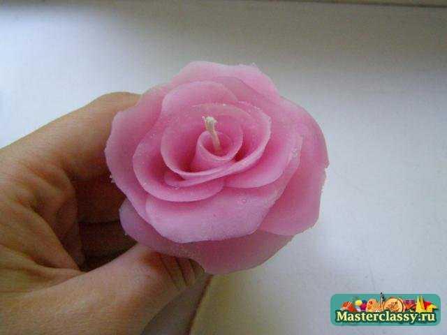 Роза свеча своими руками