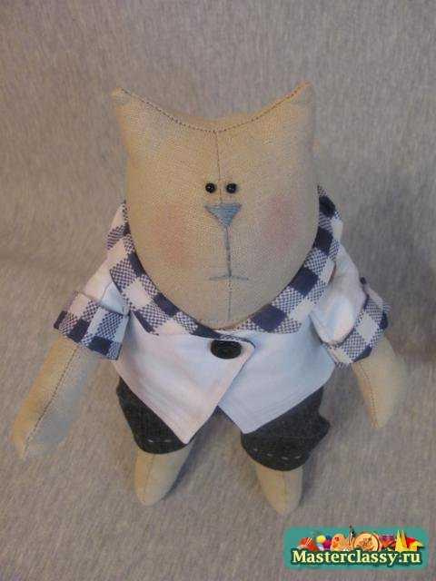 Тильда. Толстый кот в джинсах. Мастер класс