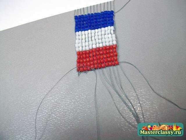 Флаги из бисера Франция Мастер класс с пошаговыми фото.