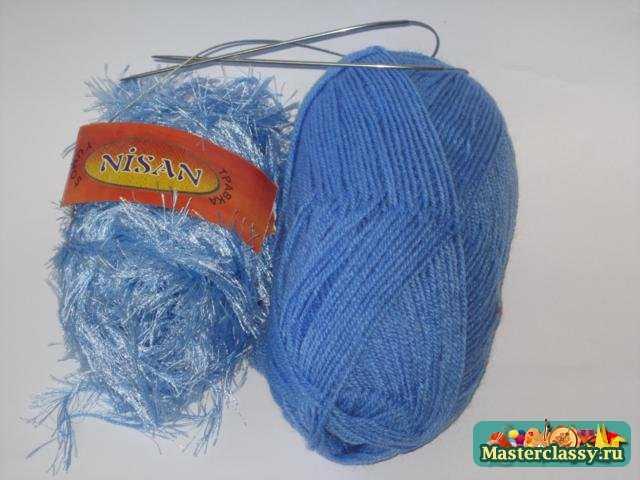 Вязание варежек. Ежик на