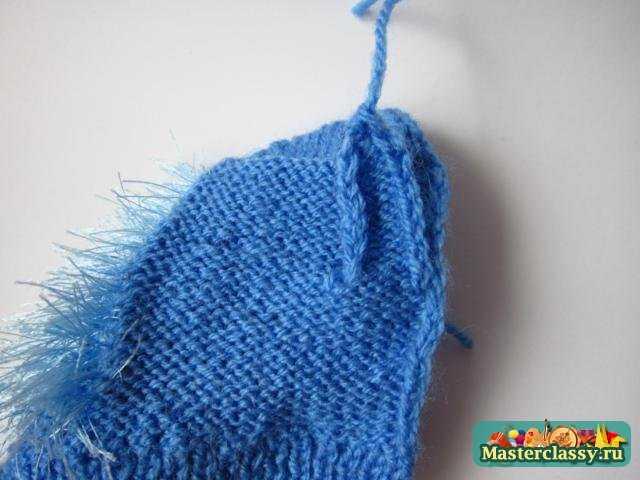 Вязание варежек. Ежик на прогулке. Мастер класс с пошаговыми фото