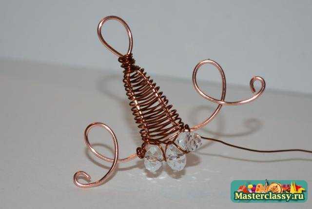 Плетение из проволоки Кулон – Хрустальный звон Мастер класс с пошаговыми фото