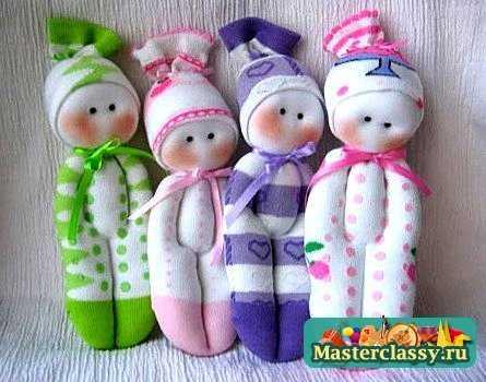 Куклы из колготок мастер класс пупс