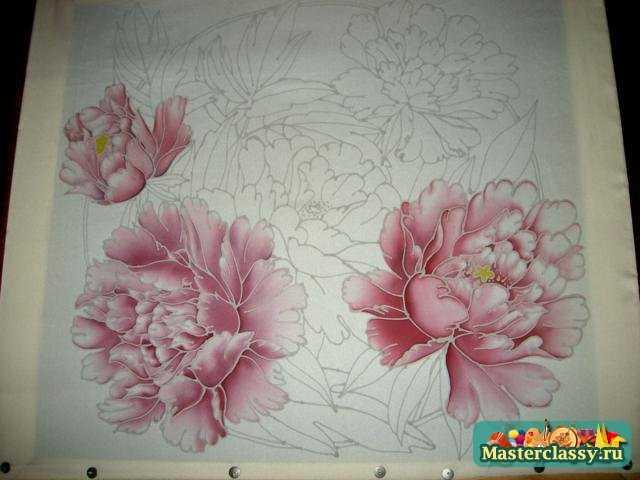 как рисовать пионы карандашом: