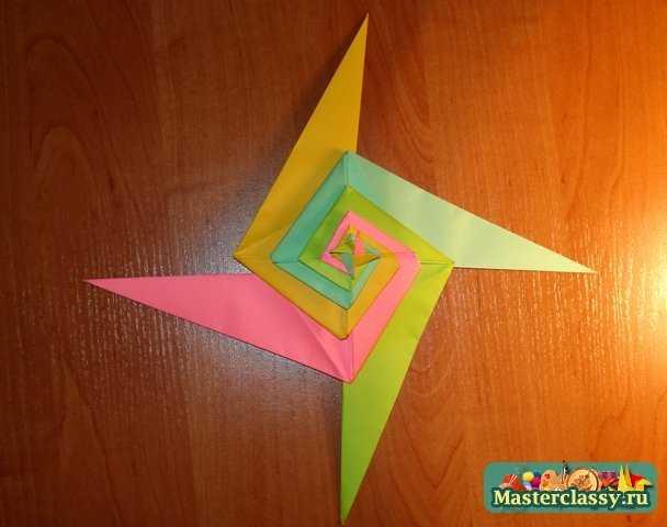 Переворачиваем оригами и