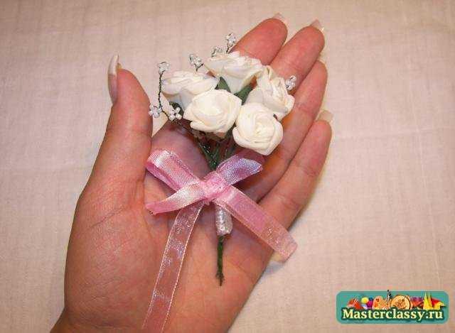 Как сделать свадебный бутоньерки своими руками