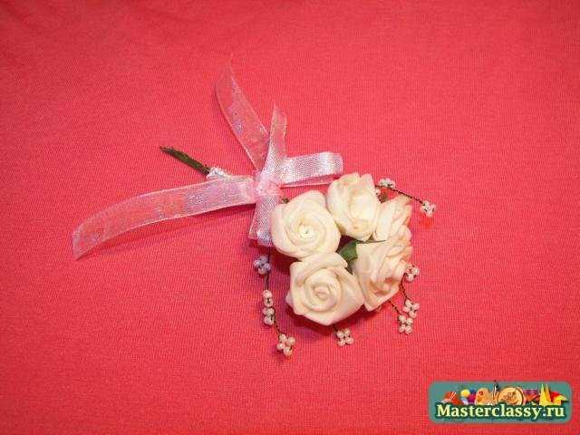 Свадебные бутоньерки фото своими руками