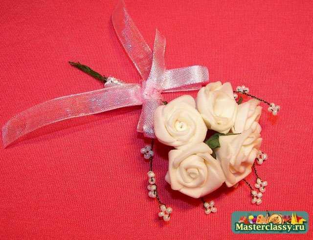 Бутоньерка на свадьбу своими руками