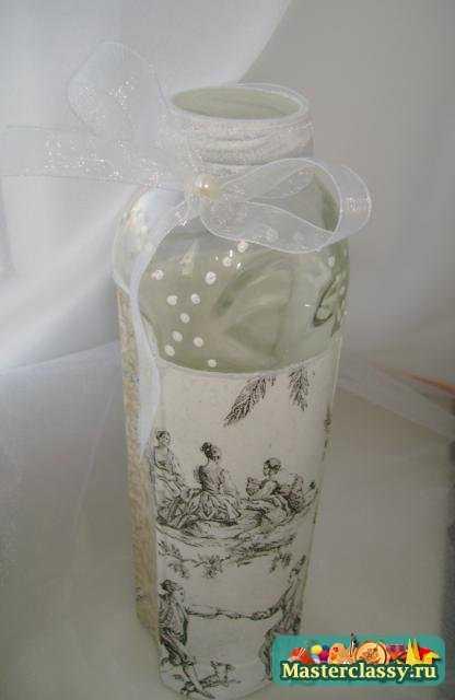 Декоративная ваза в технике декупаж. Мастер класс с пошаговыми фото