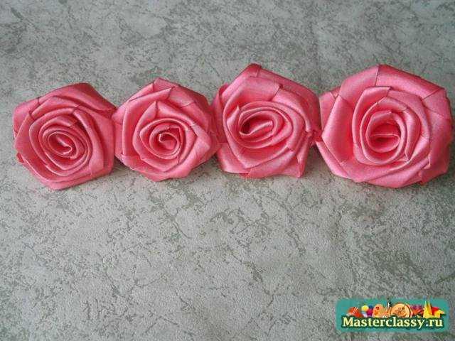 Как сделать розу из лент?