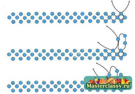 схема широкого плетения
