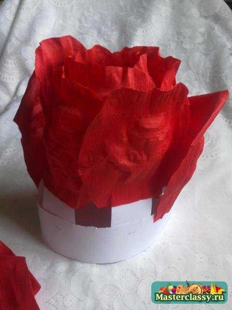 Шапочка роза из бумаги