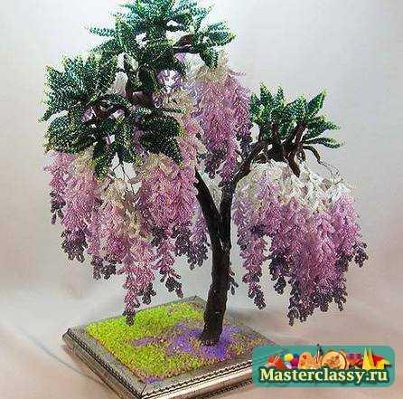 бисероплетение схемы для начинающих деревья