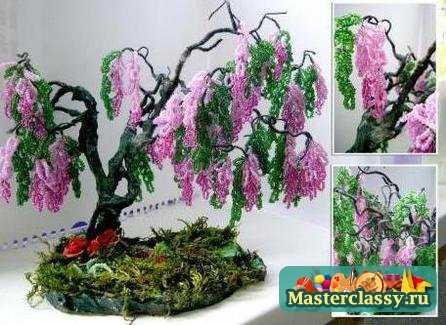 Схемы деревьев из бисера :: Деревья и цветы из бисера схемы плетения.