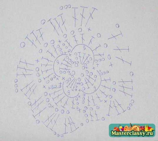 Чехол для сотового крючком схема