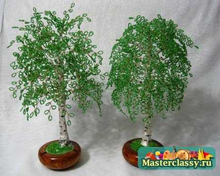 Схемы деревьев из бисера.