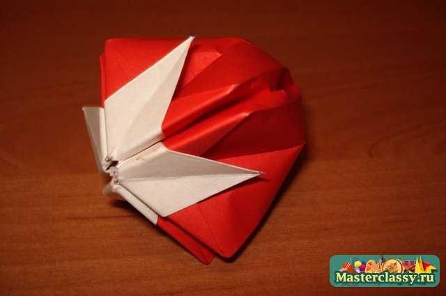 Схема модульное оригами клубника.
