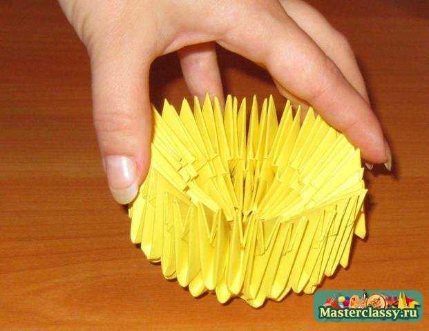 Оригами мастер класс. Котик