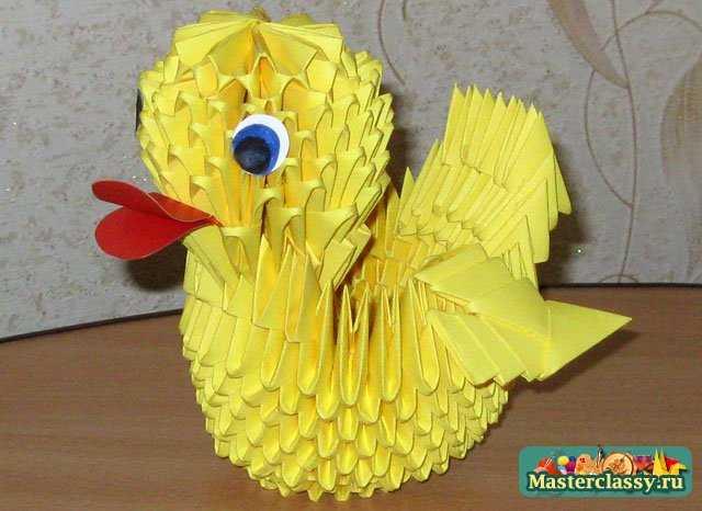 Утка из модульного оригами - Оригами из бумаги - схемы, сборка, модульные оригами