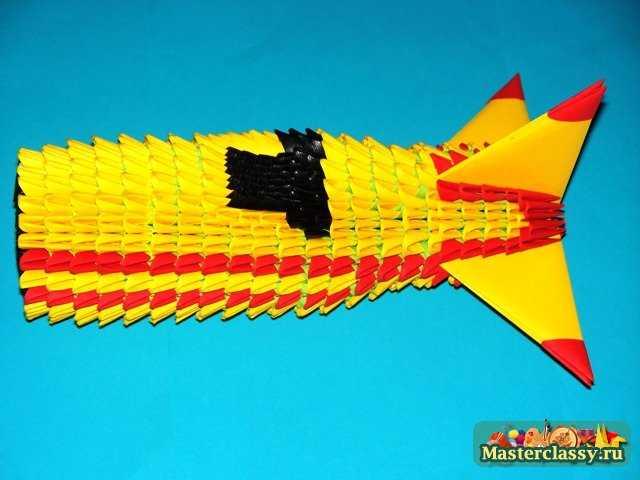 Модульное оригами.  Самолет.  Мастер-класс с пошаговыми фото.