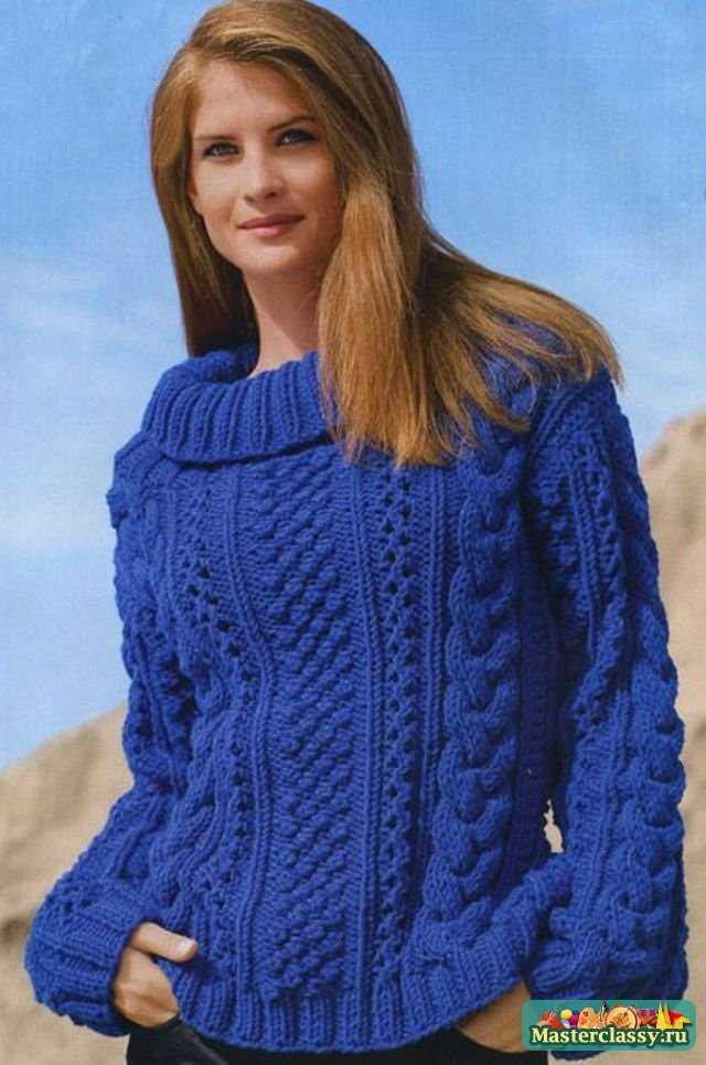 Вязание пуловера спицами:
