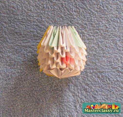 Модульное оригами снегурочка мастер класс с пошаговым фото