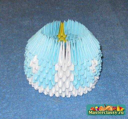 Модульное оригами. Снегурочка.