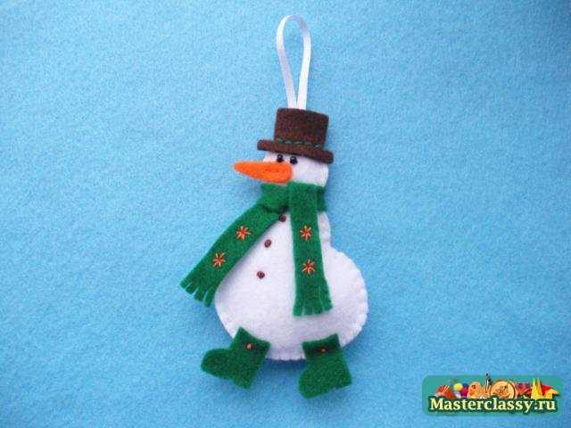 Новогодние игрушки своими руками фото снеговик