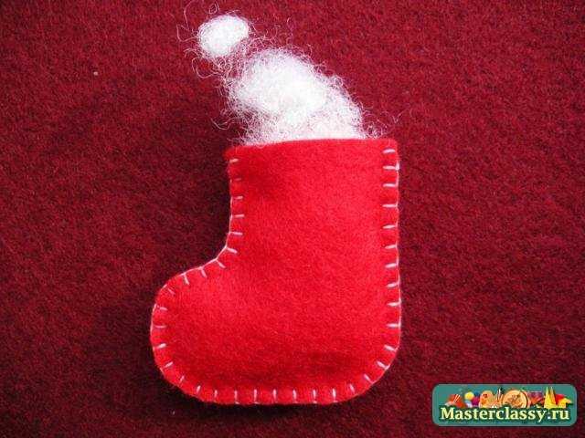 Рождественские поделки из фетра своими руками. Мастер класс с пошаговыми фото