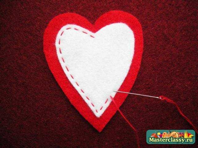 В верхней части сердечка