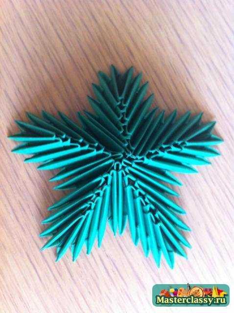 Елочка из оригами как сделать из модулей