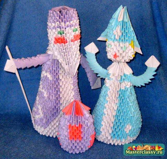 Оригами. Дед Мороз. Мастер